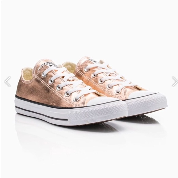 Womens Rose Gold Converse Sneakers Size